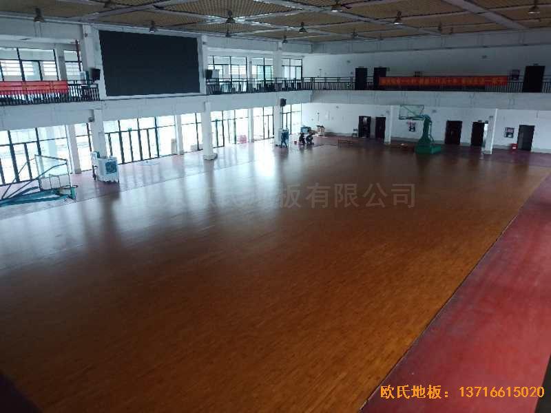 广西来宾市中学体育地板安装案例