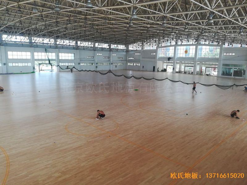 武汉体育学院体育木地板施工案例