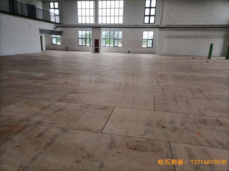 江苏宿迁运河路学校体育木地板施工案例