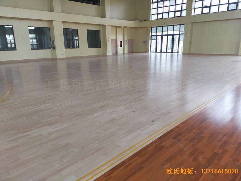 江苏连云港消防队体育木地板安装案例