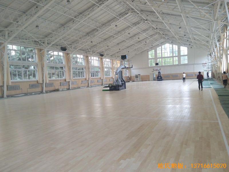 内蒙古呼和浩特赛罕区师范大学体育学院训练馆运动地板铺设案例