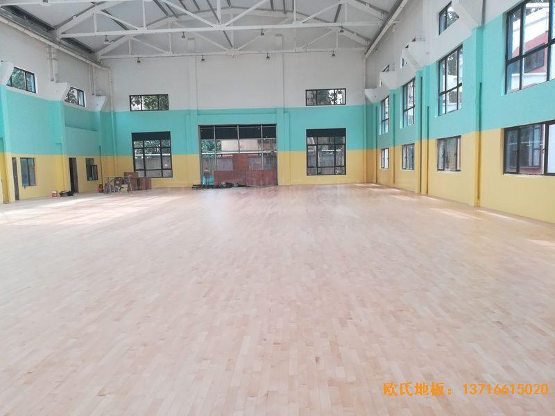 郑州中原区酷康篮球馆运动木地板铺装案例