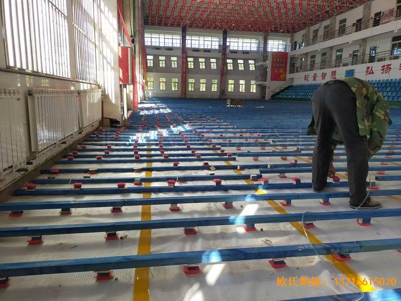 鄂尔多斯准格尔旗世纪中学运动地板铺设案例