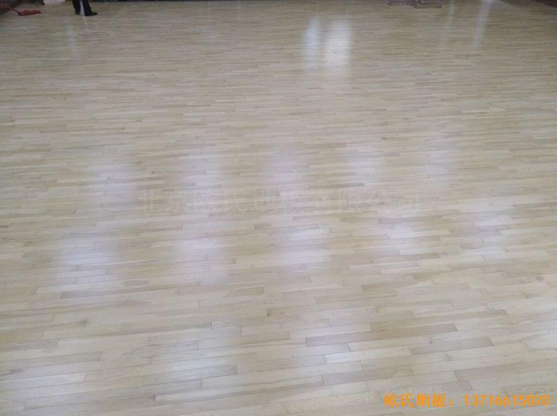 北京舞蹈学院体育木地板安装案例