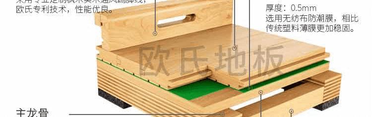 篮球单层龙骨木地板