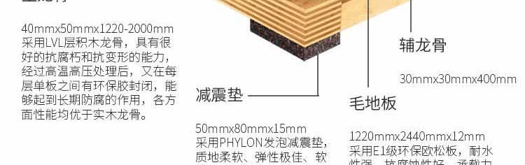 篮球单层龙骨木质地板