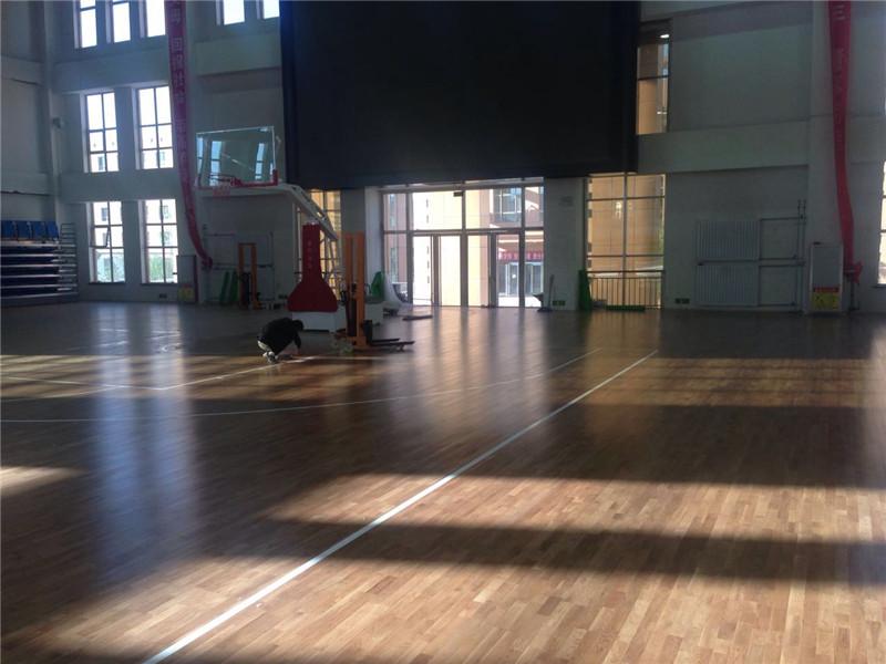 室内体育馆运动木地板 价格多少钱一平米