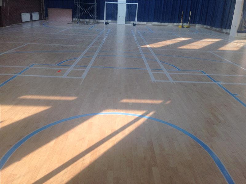 体育馆运动木地板安装施工,这些事不能做